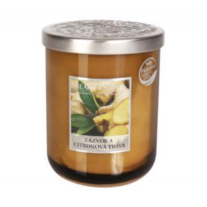 Velká svíčka - Zázvor a citronová tráva ALBI